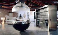 Барная стойка – особый шик в дизайне угловой кухни
