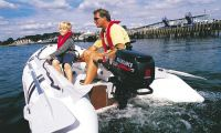 Надувная лодка и лодочный подвесной мотор