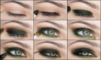 Уроки макияжа и техника нанесения макияжа - зеленые глаза. Красота зеленых глаз