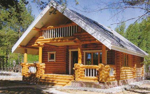 дом из оциллиндрованного бревна